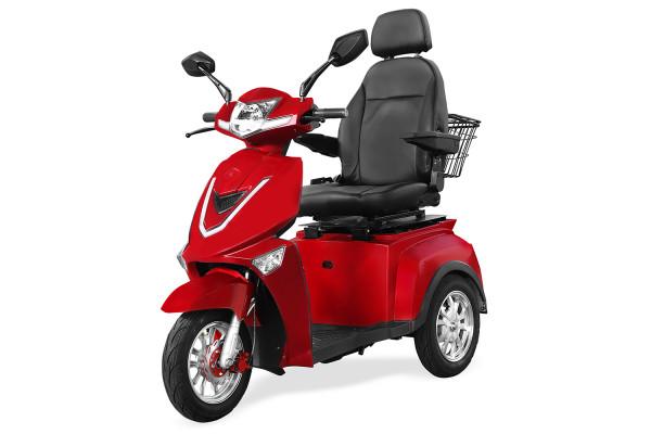 MENILA Elektro-Dreiradroller SENIO Comfort Rot