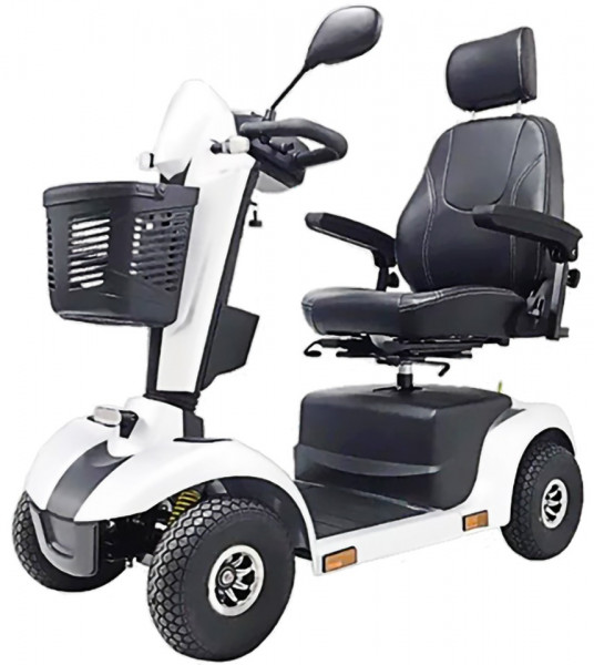 Lebensfreude Elektro-Scooter Exclusiv-Modell 15 km/h Weiß