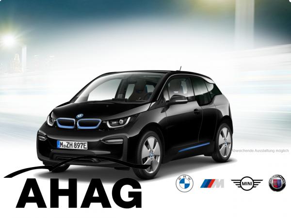 i3 (120 Ah) Fluid Black mit Akzent BMWi Blau