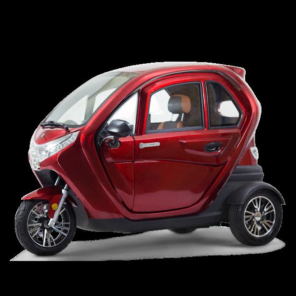 ECONELO 3-Rad-Kabinenroller F1 Bordeauxrot