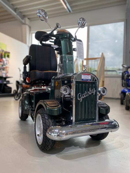 Gatsby Elektro Vierradroller Scooter Grün Vintage Mobility 15km/h Reichweite 45km Elektromagnetische Bremse01